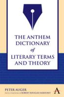 The Anthem Dictionary of Literary Terms and Theory