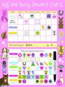 Big and Busy Reward Chart, Pink