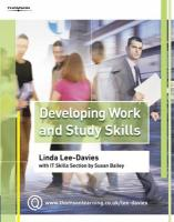 Developing Work and Study Skills