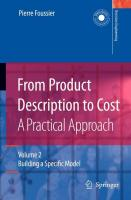 From Product Description to Cost: A Practical Approach: Volume 2: Building a Specific Model (Decision Engineering)