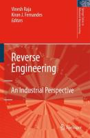 Reverse Engineering: An Industrial Perspective