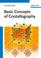 Basic Concepts of Crystallography