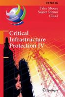 Critical Infrastructure Protection IV