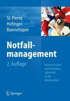 Notfallmanagement: Patientensicherheit Und Human Factors in Der Akutmedizin