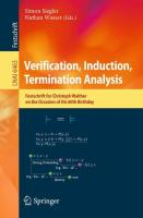 Verification, Induction, Termination Analysis