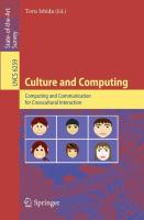 Culture and Computing