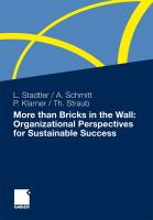 More than Bricks in the Wall: Organizational Perspectives for Sustainable Success