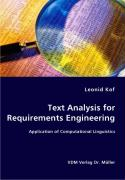 Text Analysis for Requirements Engineering