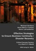 Effective Strategies to Ensure Business Continuity/Disaster Recovery