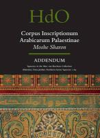 Corpus Inscriptionum Arabicarum Palaestinae, Addendum: Squeezes in the Max Van Berchem Collection (Palestine, Trans-Jordan, Northern Syria) Squeezes 1