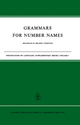 Grammars for Number Names - H. Brandt Corstius