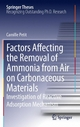 Factors Affecting the Removal of Ammonia from Air on Carbonaceous Materials - Camille Petit