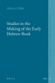 Studies in the Making of the Early Hebrew Book - Marvin J. Heller
