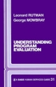 Understanding Programme Evaluation - Leonard Rutman; George Mowbray