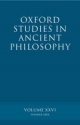 Oxford Studies in Ancient Philosophy XXVI - David Sedley