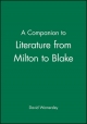 Companion to Literature from Milton to Blake - David Womersley