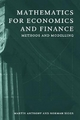 Mathematics for Economics and Finance - Martin Anthony; Norman L. Biggs