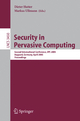 Security in Pervasive Computing - Dieter Hutter; Markus Ullmann