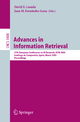Advances in Information Retrieval - David E. Losada; Juan M. Fernández-Luna