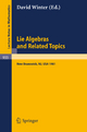 Lie Algebras and Related Topics - David J. Winter