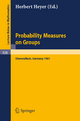 Probability Measures on Groups - H. Heyer