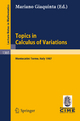 Topics in Calculus of Variations - Mariano Giaquinta