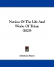 Notices Of The Life And Works Of Titian (1829) - Abraham Hume