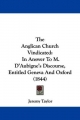Anglican Church Vindicated - Jeremy Taylor