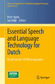 Essential Speech and Language Technology for Dutch - Peter Spyns; Jan Odijk
