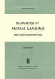 Semantics of Natural Language - D. Davidson; Gilbert Harman