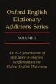 Oxford English Dictionary Additions Series - John Simpson; Edmund Weiner; J. A. H. Murray