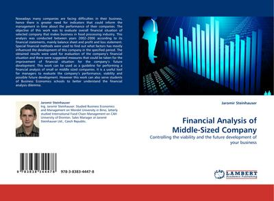 Financial Analysis of Middle-Sized Company - Jaromír Steinhauser