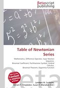Table of Newtonian Series - Lambert M. Surhone