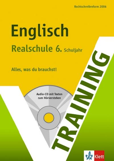 Training Englisch 6. Klasse Realschule. Mit CD - PeggyKimmich Fehily