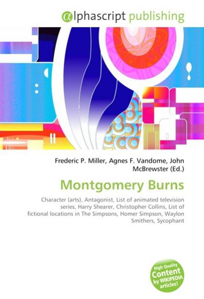Montgomery Burns - Frederic P. Miller