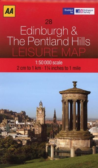 Leisure Map WK 28 Edinburgh 1 : 50 000