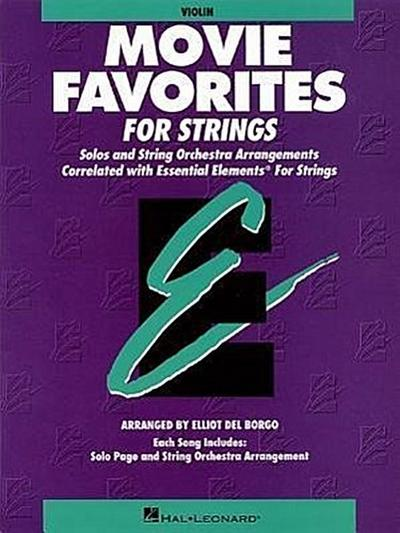 Essential Elements Movie Favorites for Strings: Violin Book (Parts 1/2) - Various