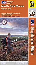 North York Moors. Western area 1 : 25 000: Showing part of the National Park and Cleveland Way (OS Explorer Map) - Ordnance Survey