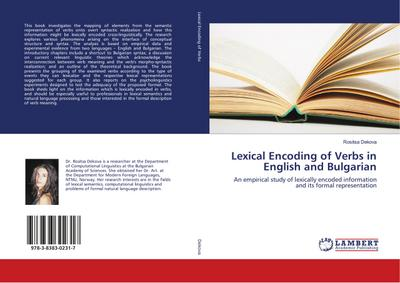 Lexical Encoding of Verbs in English and Bulgarian - Rositsa Dekova
