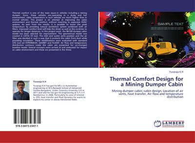 Thermal Comfort Design for a Mining Dumper Cabin - Yuvaraja K. H