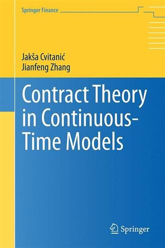 Contract Theory in Continuous-Time Models