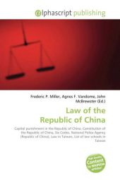 Law of the Republic of China - Frederic P. Miller