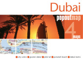 Dubai PopOut Map, 4 maps