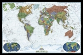 National Geographic Map World Decorator, Political Map, Planokarte