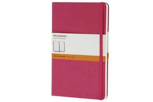 Moleskine Magenta Pocket Ruled Notebook Hard - Moleskine