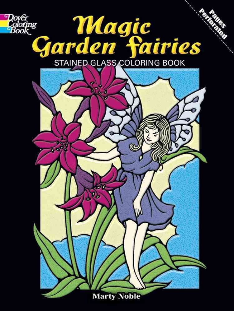 Fairies and Elves Stained Glass Colouring Book - Marty Noble