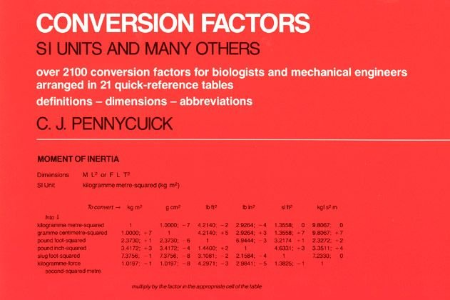Conversion Factors - C.J. Pennycuick