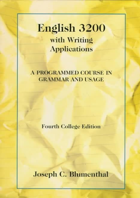 English 3200 with Writing Applications - Joseph C. Blumenthal