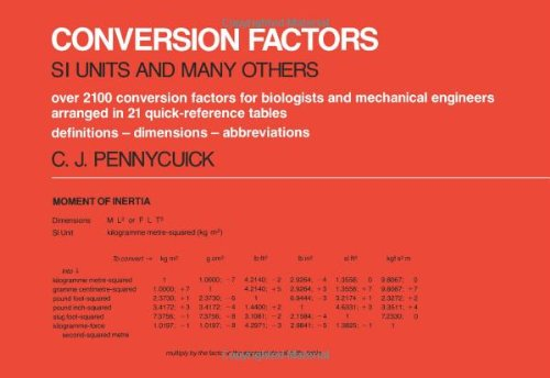 Conversion Factors: S. I. Units and Many Others - Colin J. Pennycuick