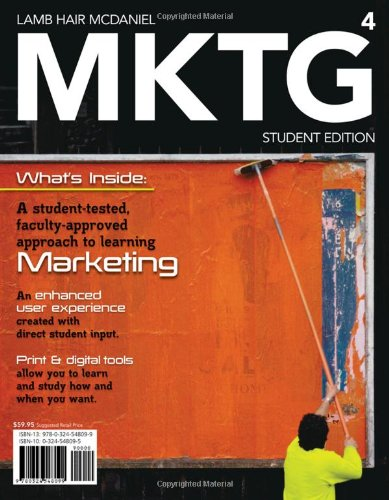 MKTG 4 (with Marketing CourseMate with eBook Printed Access Card) (Available Titles CourseMate) - Charles W. Lamb, Joe F. Hair, Carl McDaniel